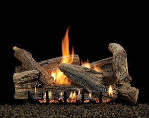 Image of an American Hearth Gas log which link to our Gas Log Page.