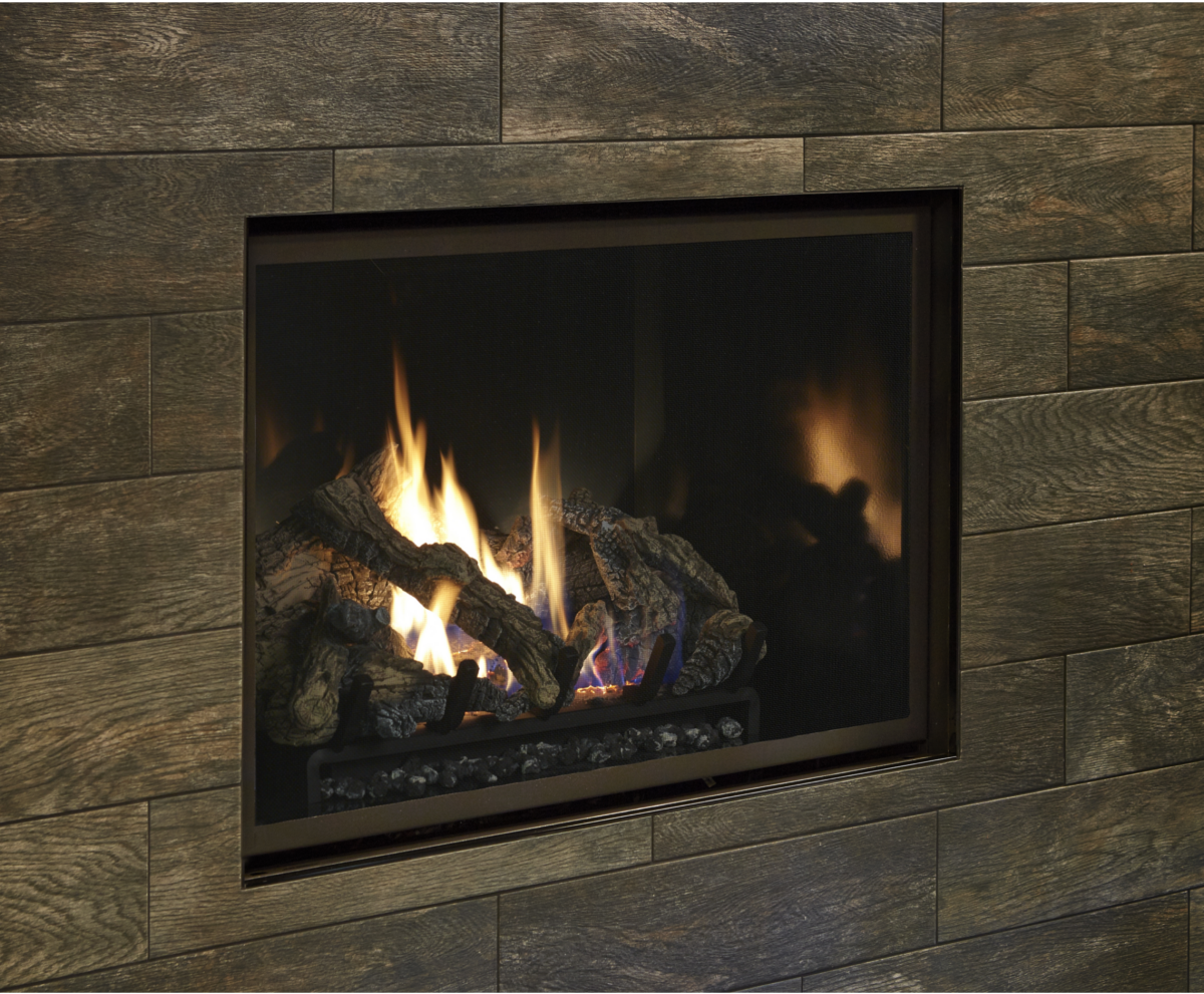 Image of an FireplaceX 864 TRV Gas Fireplace with a link to the product page.