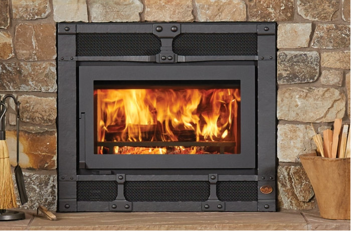Image of a 42 Apex Fireplace Xtrodinair Wood Fireplace with a link to the product page.