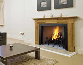 Image of a WRT4500 Superior Wood Fireplace with a link to the product page.