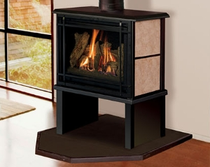 Image of a Birchwood Gas Stove  with Soap Stone option made by KozyHeat