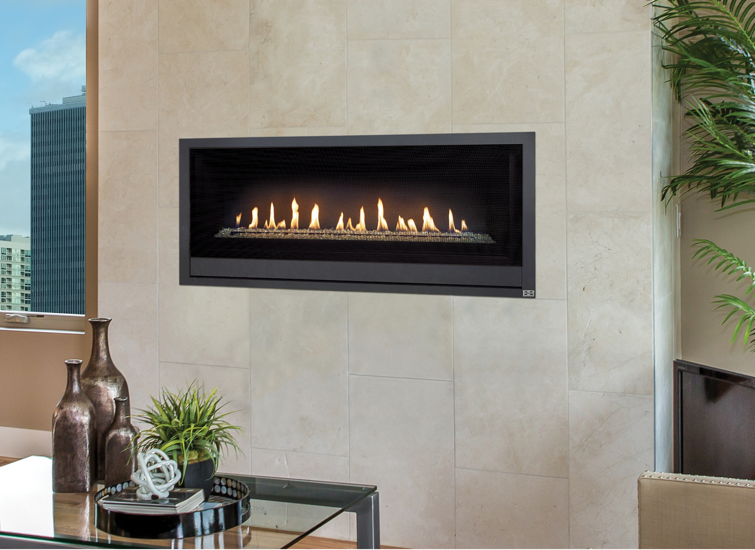 this is a linked image of a FireplaceX ProBuilder 42 gas fireplace to its product page under related products