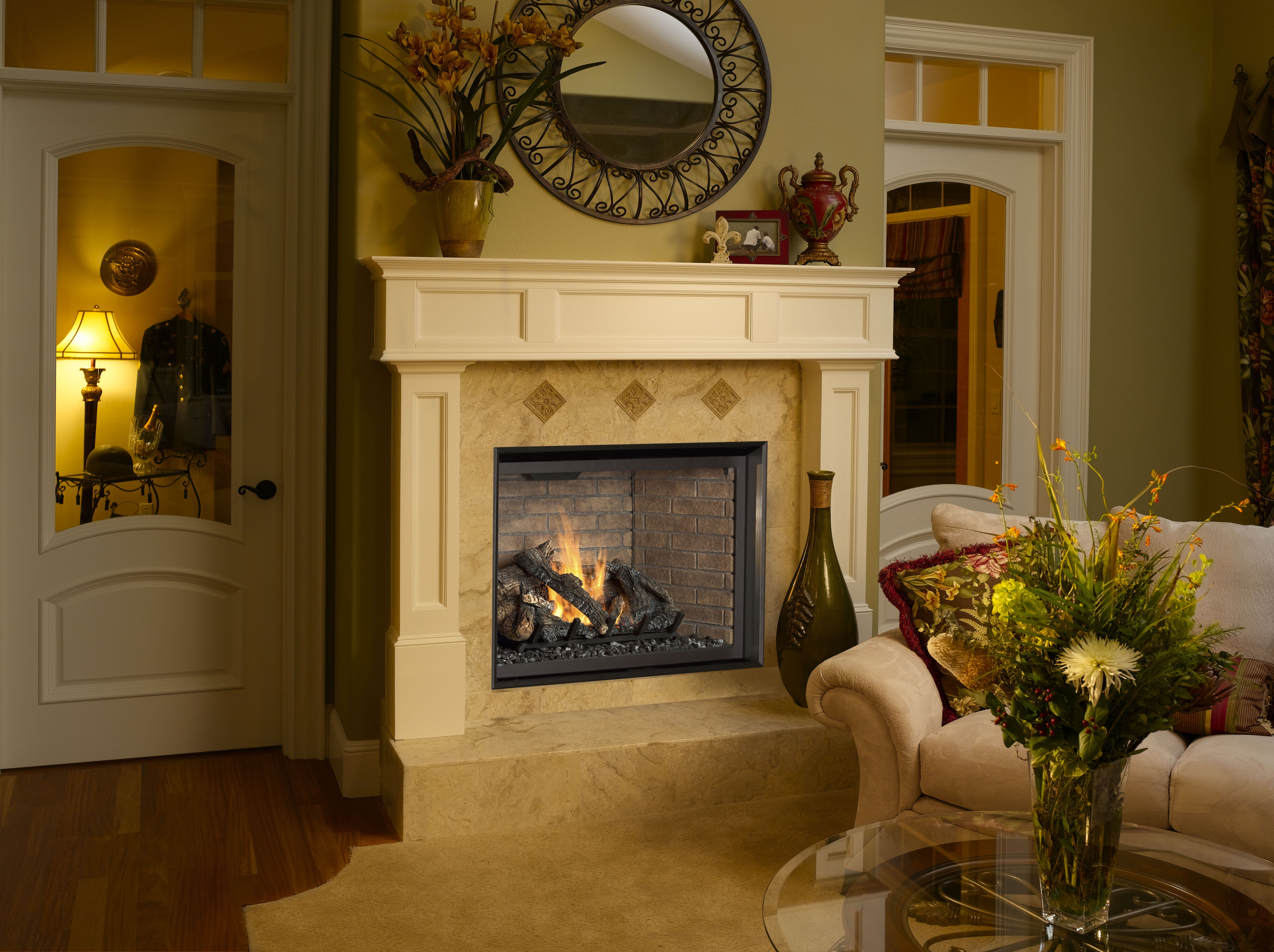 864 Clean Face Gas Fireplace by FireplaceX.