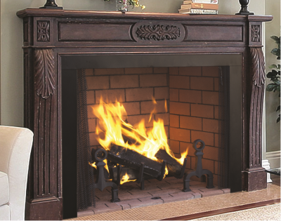 Image of a WRT4000 Superior Wood Fireplace with a link to the product page.