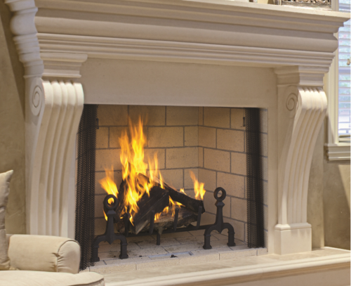 Image of a WRT6000 Superior Wood Fireplace with a link to the product page.