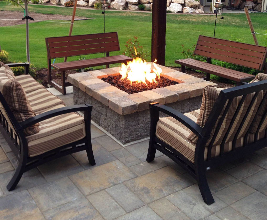Image of a Warming Trends custom firepit.