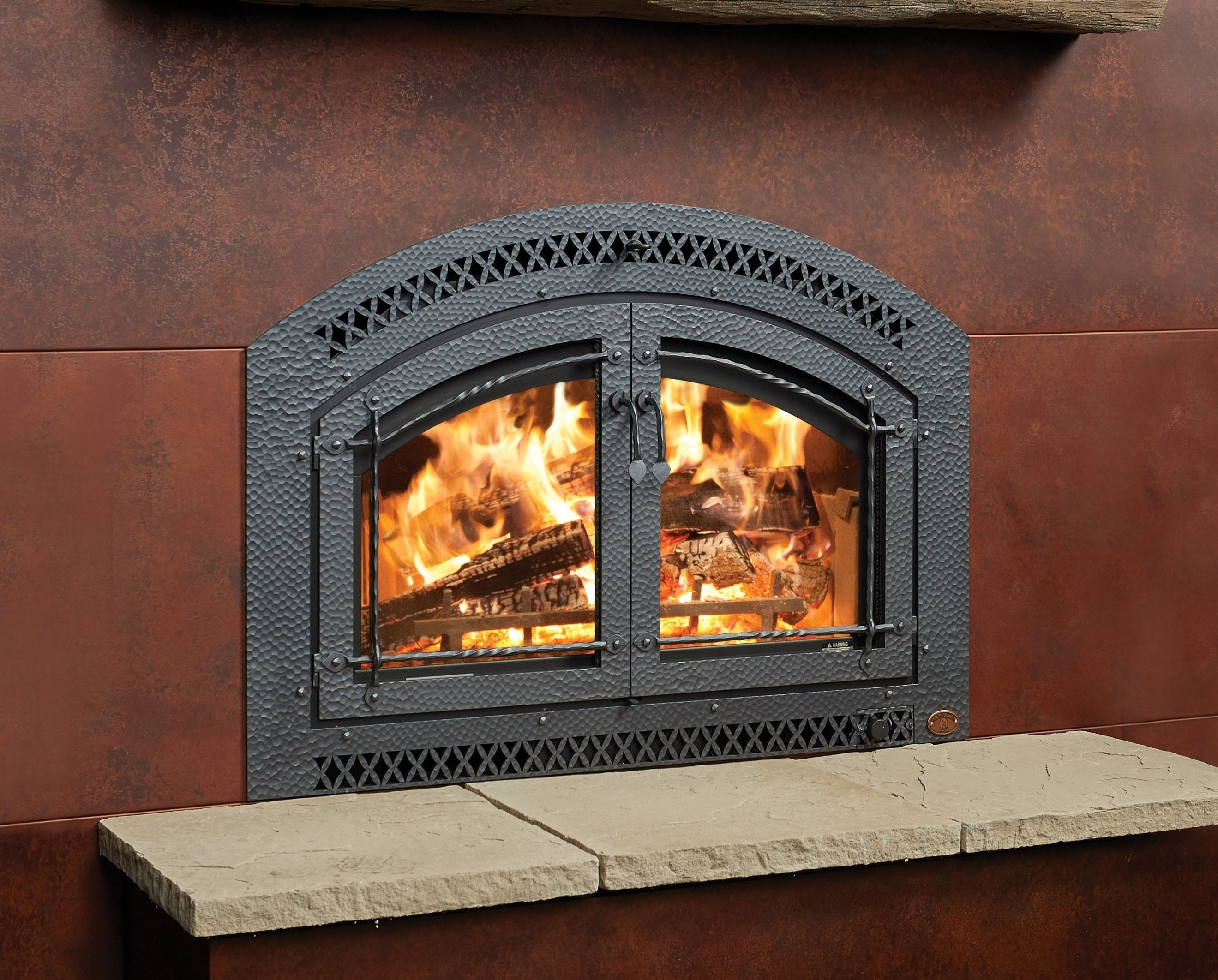 Image of the 44 Elite Fireplace Xtrodinair Wood Fireplace with a link to the product page.