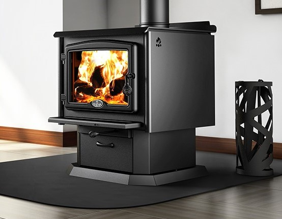 Image of a 2300 Wood Stove with pedestal by Osburn.
