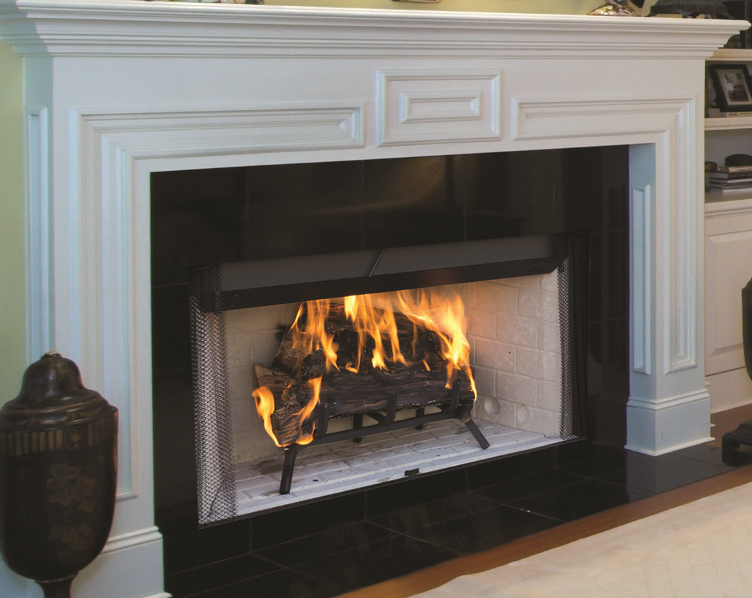 Image of a WRT3000 Superior Wood Fireplace with a link to the product page.