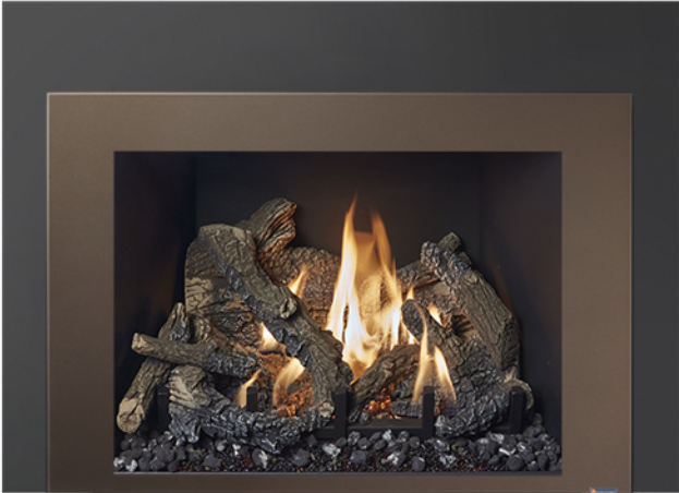 Image of the large 616 gas insert by Travis Industries featuring Bronze Shadowbox Face.